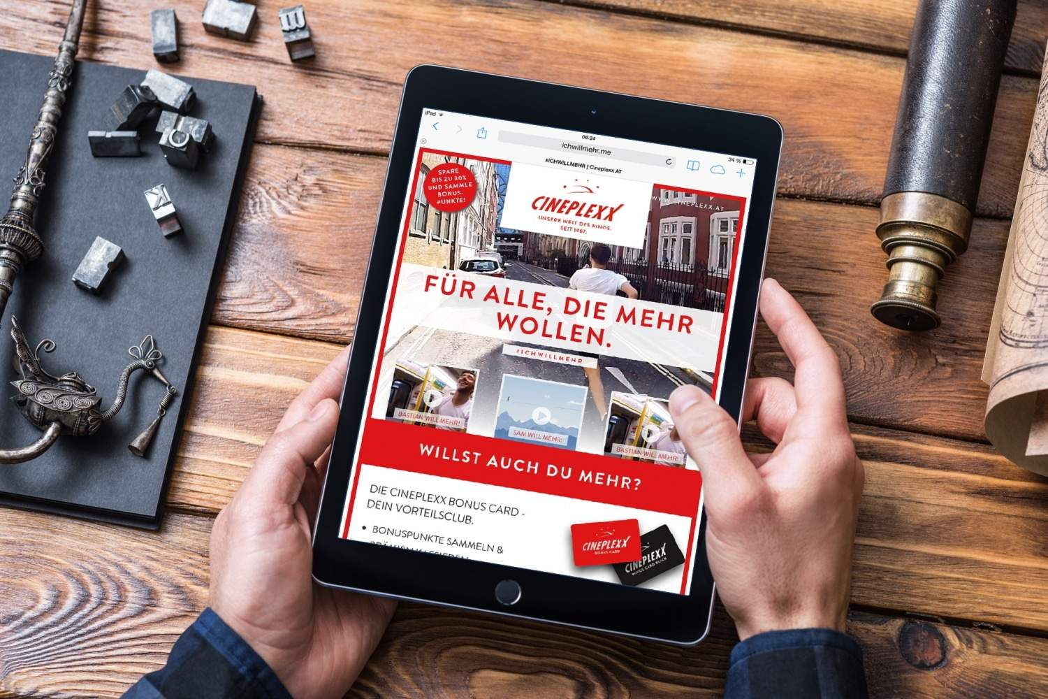 mockup responsive SEO Website und Banner – cineplexx at