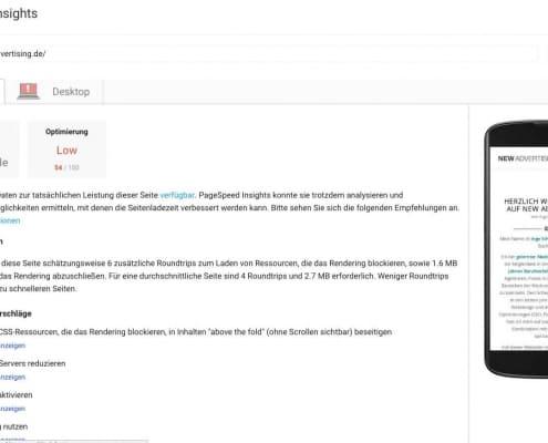 Pagespeedergebnis vor meinen Optimierungen meiner WordPress Website 2018 - SEO Marketing Blog - Ingo Schütte – Grafiker, Website & SEO Spezialist aus Bochum