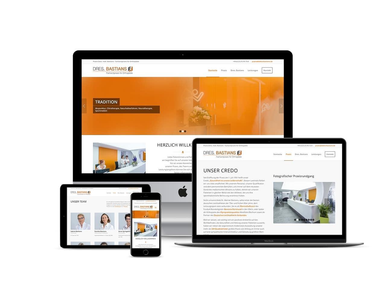 Responsive Website Dres. Bastians - Grafiker, Website & SEO Spezialist aus Bochum