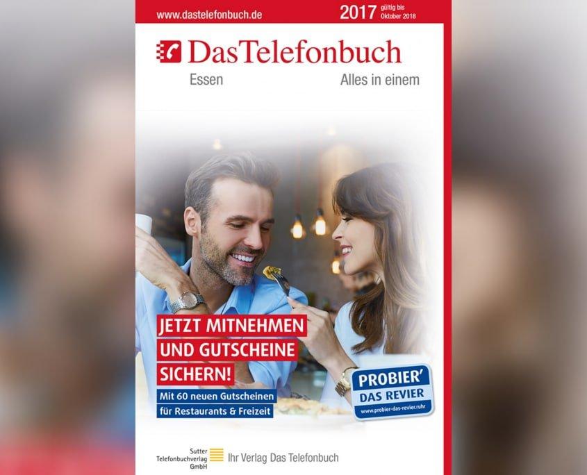 Grafiker, Website & SEO Spezialist aus Bochum - Arbeitsprobe Promo Das Telefonbuch Cover Essen 2017