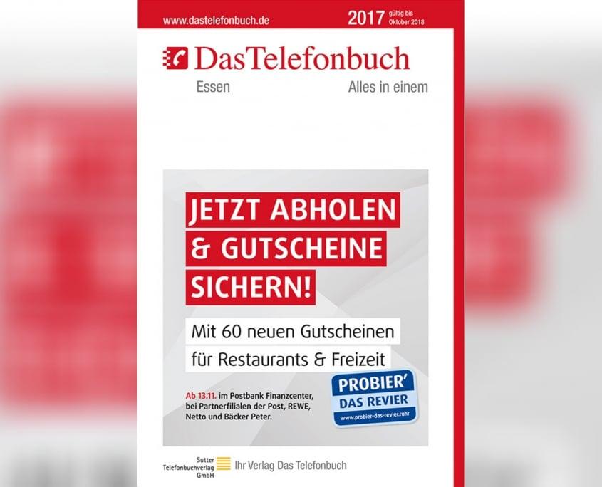 Grafiker, Website & SEO Spezialist aus Bochum - Arbeitsprobe Promo Das Telefonbuch GroundposterEssen 2017