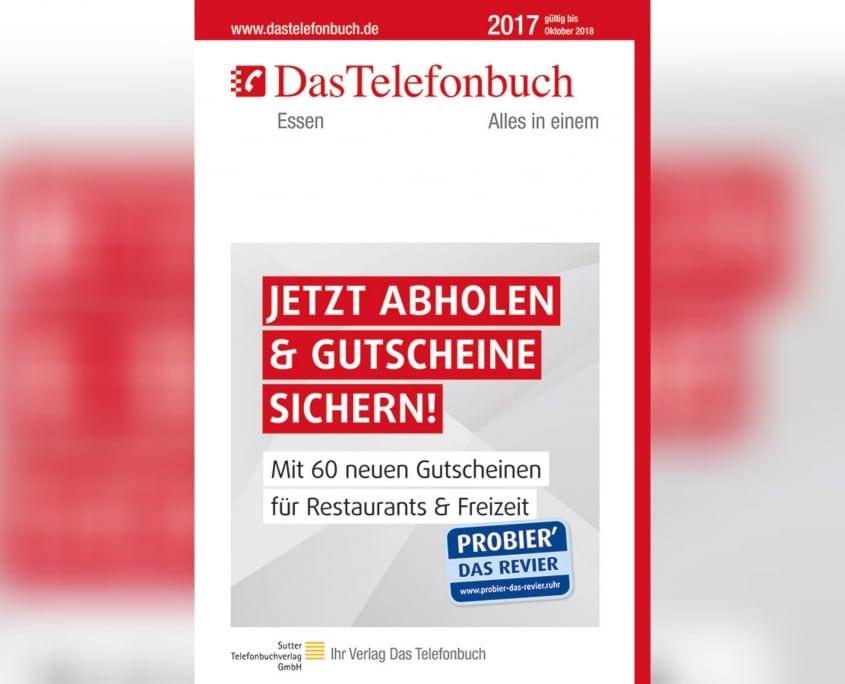 Grafiker, Website & SEO Spezialist aus Bochum - Arbeitsprobe Promo Das Telefonbuch HausbannerEssen 2017
