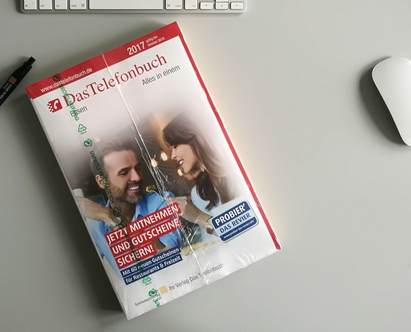 Gestaltung Cover - Das Telefonbuch - Promo Buchverteilung Essen 2018