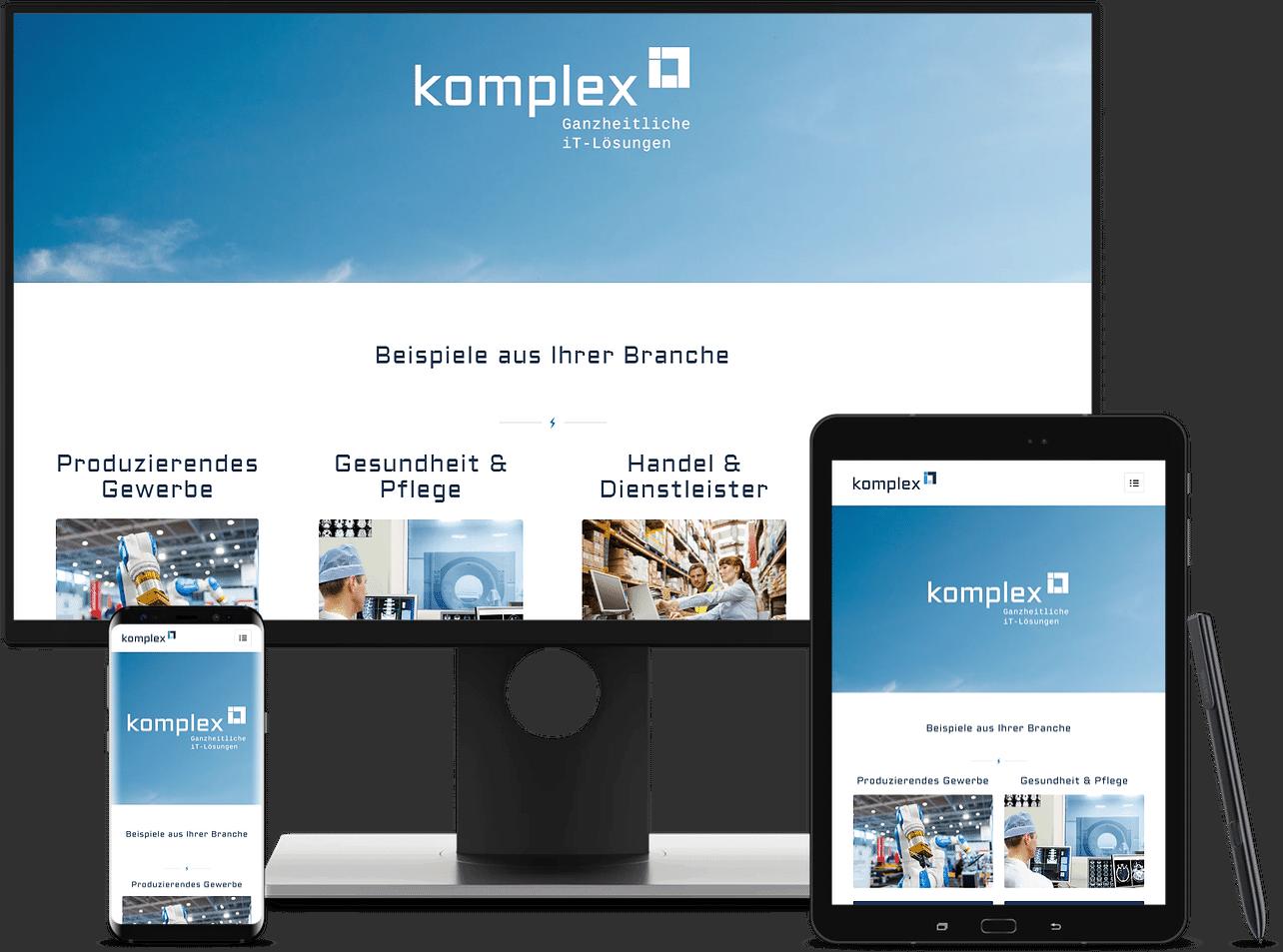 Website & SEO Spezialist aus Bochum Arbeitsprobe KomplexIT