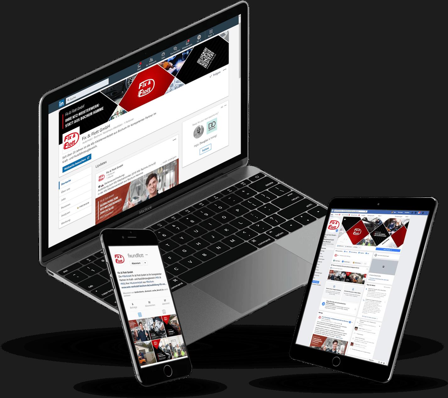 Website & SEO Spezialist aus Bochum - Fix & Flott Preview -Online Reputation Management (ORM) - Social Media