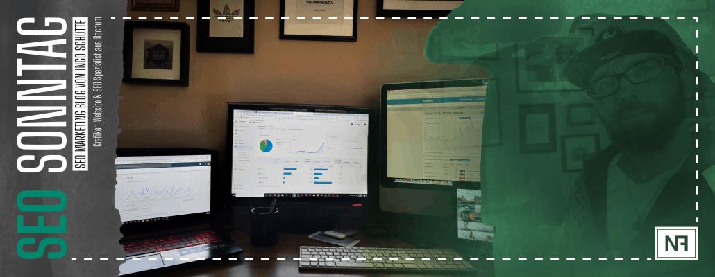 Website Entwicklung Analyse hinsichtlich Sichtbarkeit - SEO Marketing Blog - Kategorie SEO Sonntag Header - Ingo Schütte – Grafiker, Website & SEO Spezialist aus Bochum