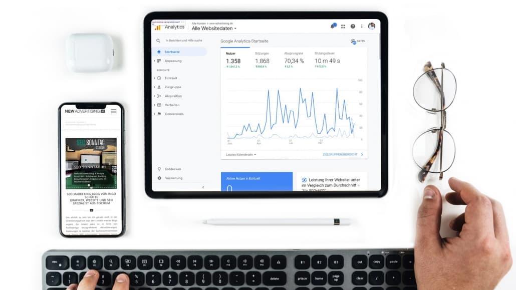 SEO Marketing Blog - Analytics Nutzer & Sitzungen Statistik - SEO Sonntag 27.10.2019 - Ingo Schütte – Grafiker, Website & SEO Spezialist aus Bochum