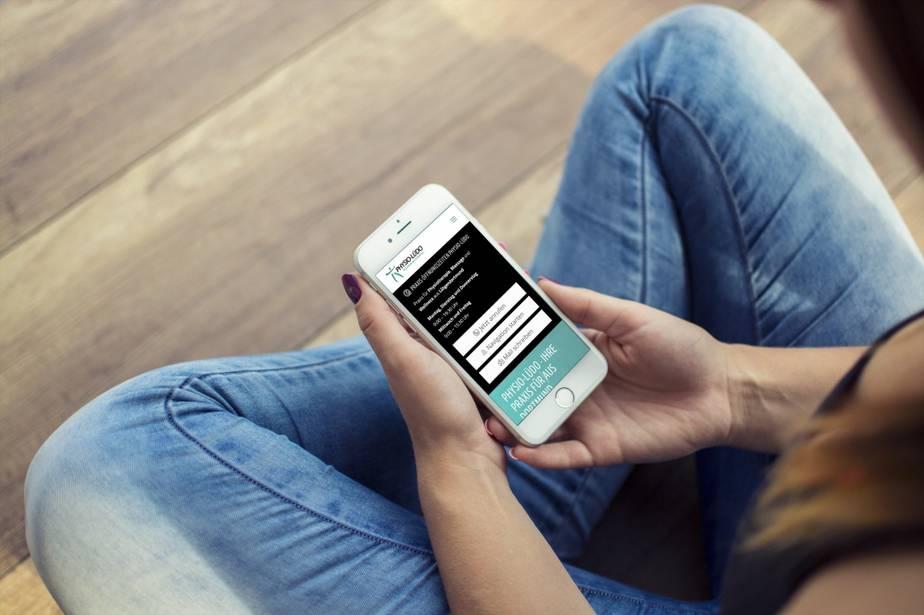 Grafiker, Website & SEO Spezialist aus Bochum - Neues Websiteprojekt - Physio Lüdo Smartphonepreview - Ingo Schütte